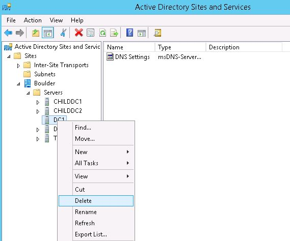 DNS settings active directory
