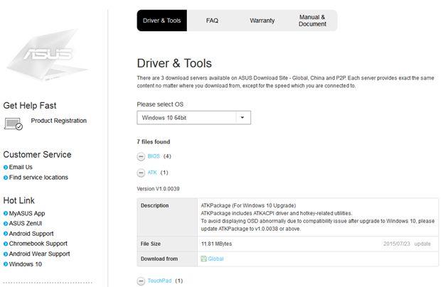 asus driver tools