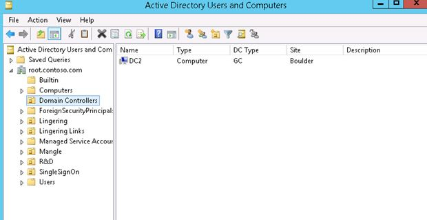 domain controllers active directory