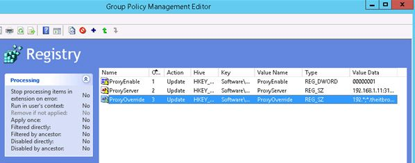 Configuring GPO Proxy Settings for Internet Explorer 11