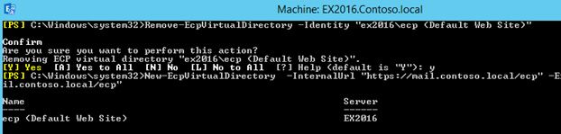 New-EcpVirtualDirectory