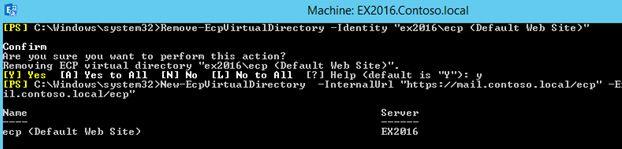 recreate ecp virtual directory