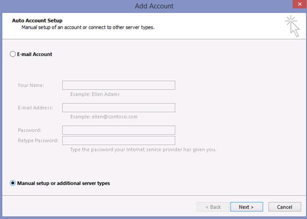 account add outlook