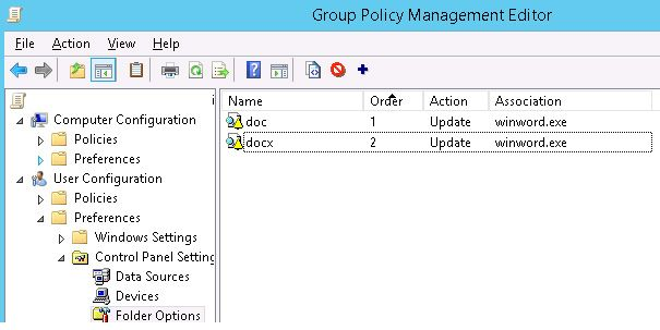 group policy File Associations