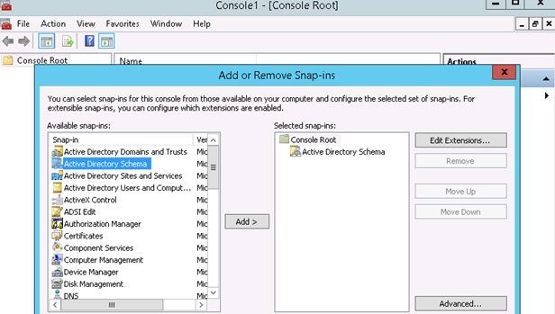 Fsmo role schema master theitbros - Console active directory ...