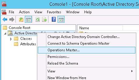 schema master operations