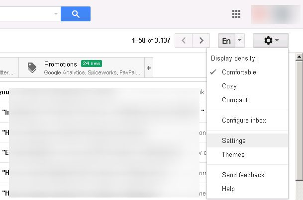 Configure Outlook Settings to access Gmail via POP3 and SMTP