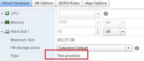thin provision