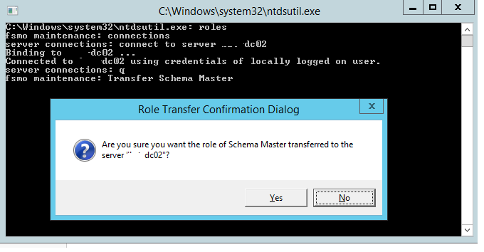 what is schema master role