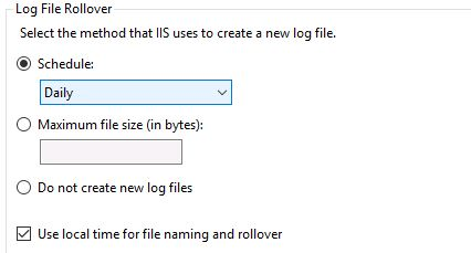 How to configure, view and change IIS Log location on Windows Server