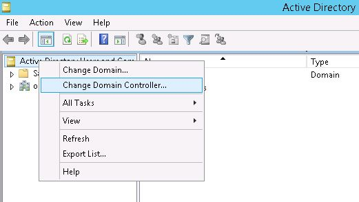 active directory change domain controller
