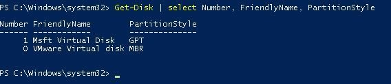 get disk partition style