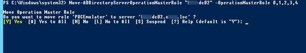 move fsmo roles powershell