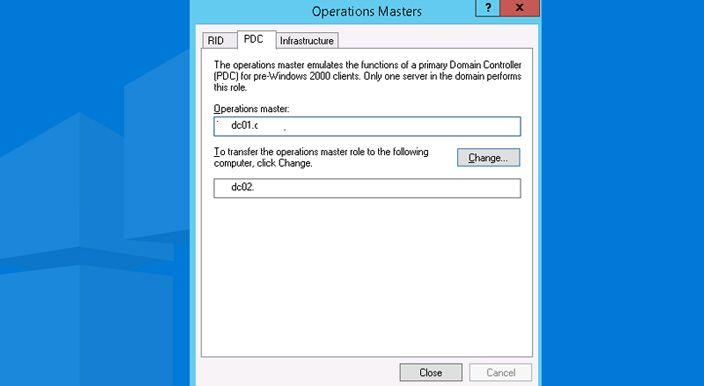 pdc emulator fsmo role