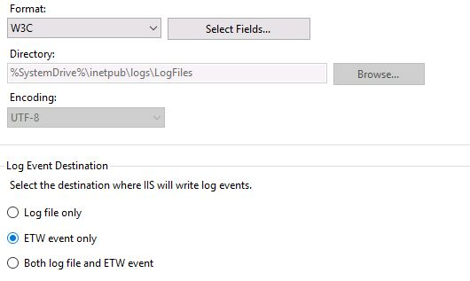 w3c etw event only