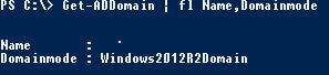 get ad domain powershell