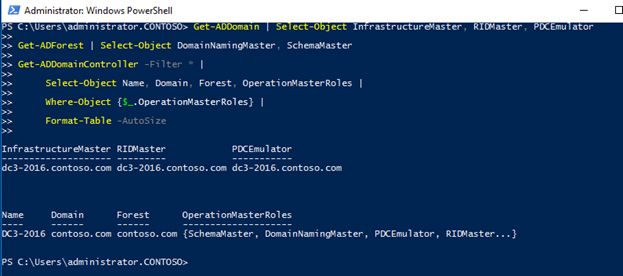 get addomain powershell