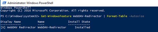 WebDAV redirector