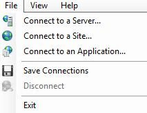 IIS connect to server