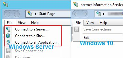 IIS manager_server windows 10