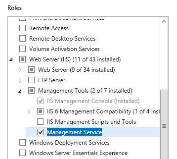 IIS remote management