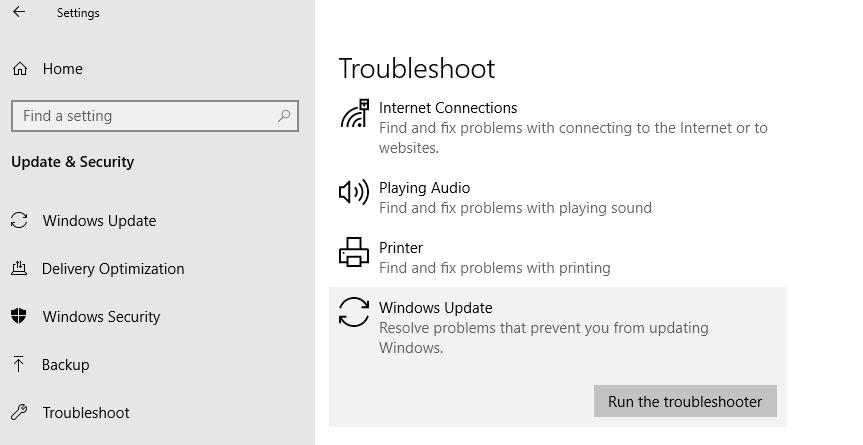 How to solve the windows update error 80072ee2