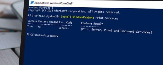 configure install windows print services