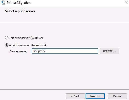 migrate print server from 2012 to 2016