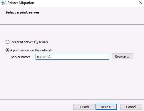 migrate print server