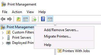 print management console
