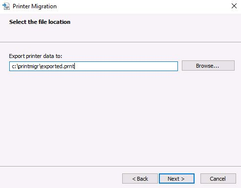 printer migration export