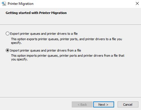 printer migration import