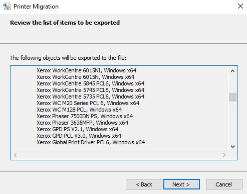 printer migration server