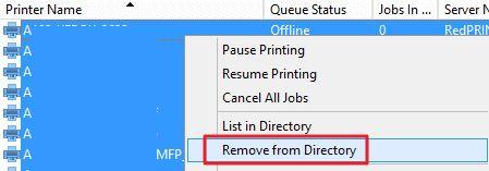 printer queues