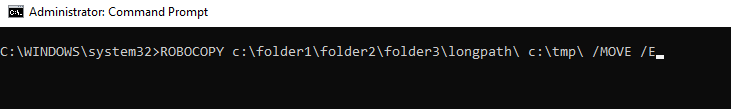 file name would be too long for the destination folder