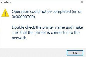 0x00000709 error
