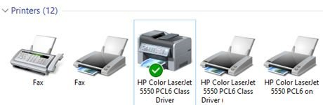 Default printer windows 10