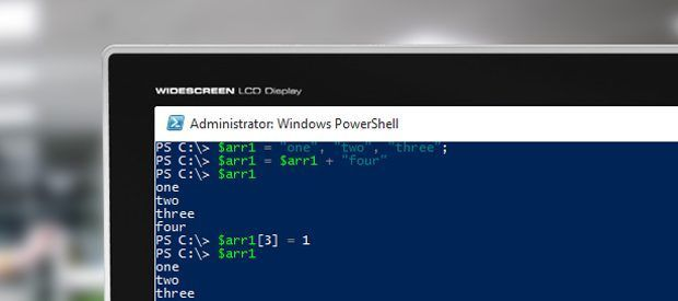 array arr powershell cover