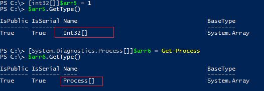 arrays arr powershelll process