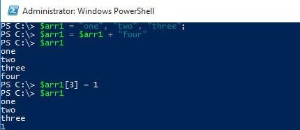 array powershell arr