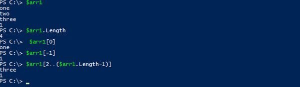 array powershell arr length