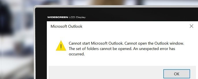 Cannot start Microsoft Outlook cover