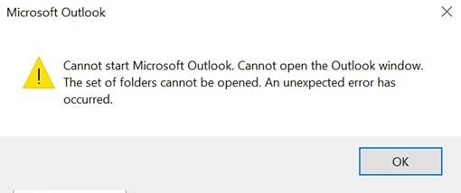 Fix: Cannot Start Microsoft Outlook 2016 – TheITBros