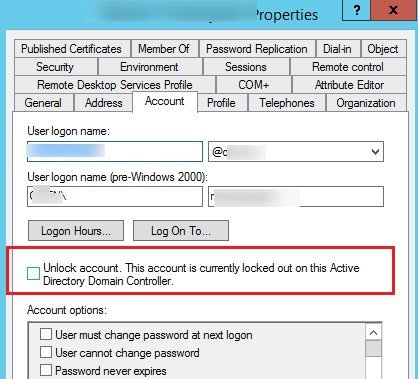 active directory account keeps locking