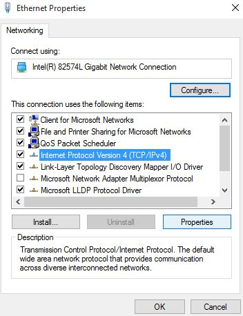 unidentified network no internet access windows