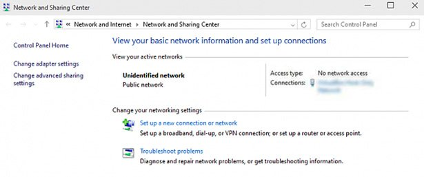 unidentified network windows