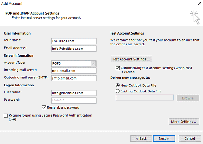 how do i change my gmail account settings
