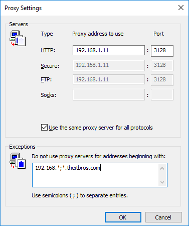 group policy proxy settings windows 10