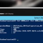 Active Directory Schema Configuration