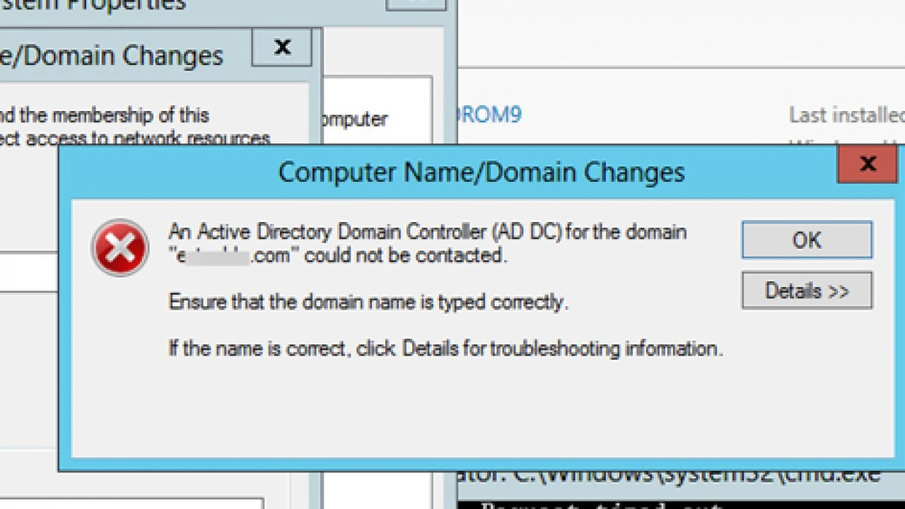 Fix: Active Directory Domain Controller Could Not Be